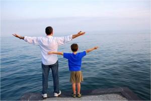 Kind-Vater-Meer